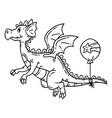 cartoon flying dragon vector image