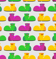 Clown shoes funny seamless pattern Multicolored vector image