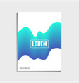 covers design for brochure with abstract blue vector image vector image