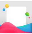 Creative abstract background with bright waves vector image vector image