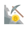 cryptocurrency mining concept flat design icon vector image vector image