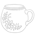 cup with a pattern contour vector image vector image