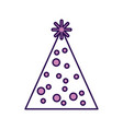 cute purple party hat cartoon vector image