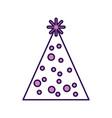 cute purple party hat cartoon vector image