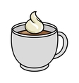 delicious coffee drink isolated icon vector image