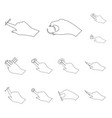 design of touchscreen and hand sign set of vector image
