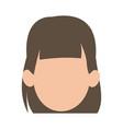 faceless woman girl cartoon head icon vector image vector image