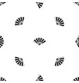 fan pattern seamless black vector image vector image