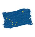 flag of alaska grunge abstract brush stroke vector image