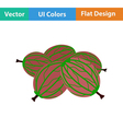 Flat design icon of Gooseberry vector image vector image