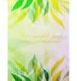 Floral retro green background vector image vector image
