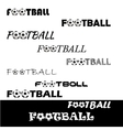 football text for logo team and cup vector image