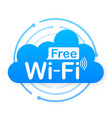 free wifi zone blue icon wifi here sign