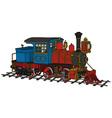 Funny old american steam locomotive vector image vector image