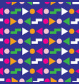 geometric seamless pattern 80s design vector image