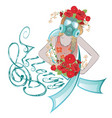 girl in gasmask allergy vector image