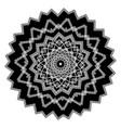 greek round black and white mandala pattern vector image vector image