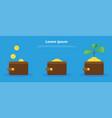 growing money tree in wallet vector image vector image