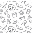 Halloween flat pattern skull vector image vector image