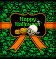 halloween postcard template vector image