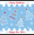 happy new year and merry christmas 2018 6 vector image vector image
