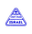 Israel city visa stamp on passport