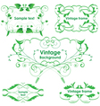 Leaves frames - set design elements vector image vector image