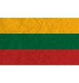 Lithuania paper flag vector image vector image