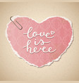 love is here vector image