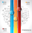 Modern Abstract Infographic template to display vector image vector image