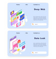 online payment and financial bill deep web vector image vector image