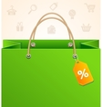Paper Bag Background Sale vector image vector image