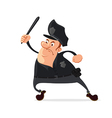 policeman with truncheon vector image