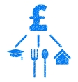 Pound Consumption Pattern Grainy Texture Icon vector image vector image