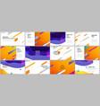 presentation design templates multipurpose vector image vector image