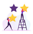 rating quality and business ranking concept vector image