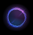 realistic electric circle or abstract plasma round vector image vector image