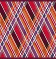 rhombic tartan fabric seamless texture in warm vector image