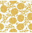 seamless floral pattern with peonies vector image