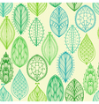 Seamless hand drawn vintage pattern vector image