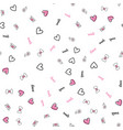 seamless pattern with valentine day elements vector image vector image