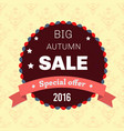 seasonal big autumn sale business background vector image vector image