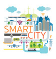 smart city infrastructure vector image vector image