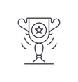 sports cup line icon concept sports cup vector image vector image