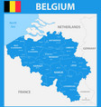 the detailed map of the belgium with regions or vector image vector image