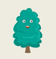 the tree cartoon character vector image vector image
