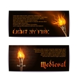 Torch Banners Set vector image