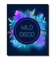 tropic disco party flyer design template vector image vector image