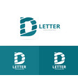 unique letter d logo design template vector image