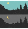 View of the heritage Russian city day and night vector image vector image